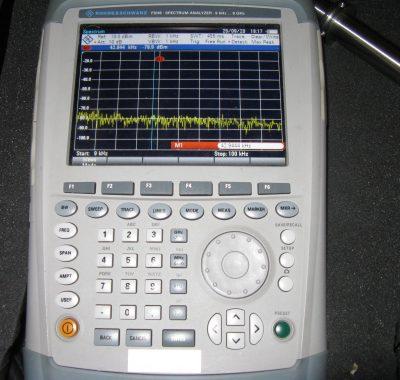 Elektrosmogmessung mit Spektrumanalysator